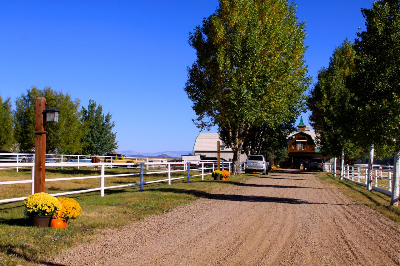 Arriving at Painted View Ranch